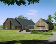 Architectuur clubgebouw, 3D lightwave