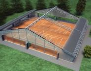Tennishal folder, 3D Lightwave