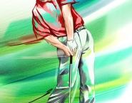 Golfer, Digital painting